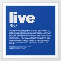definition LLL - Live 6 Art Print