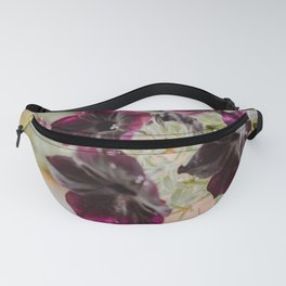 Purple Garden Flowers Fanny Pack