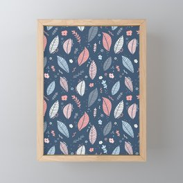 A Frolic Of Flowers And Leaves In A Perfectly Pretty Pastel Pattern Framed Mini Art Print