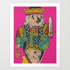 king n queen Art Print