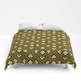 Orange geometry pattern Comforters