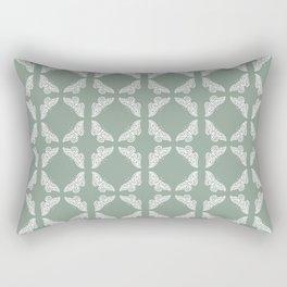 Pewter Arts and Crafts Butterflies Rectangular Pillow
