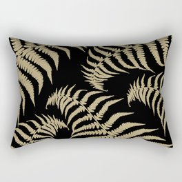 Fern Leaves Pattern - Golden Dream #1 #ornamental #decor #art #society6 Rectangular Pillow