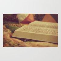 bible Area & Throw Rugs featuring Bible by KimberosePhotography