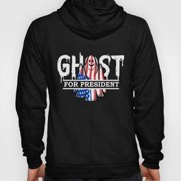 Ghost Elected Cute Halloween Spirit in American Flag Dark Hoody