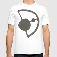 Earth and Moon Mens Fitted Tee White MEDIUM