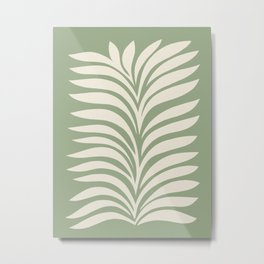 Abstract Foliage 5. Sage Green Metal Print