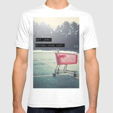 Grocery Cart Rage  Mens Fitted Tee MEDIUM White