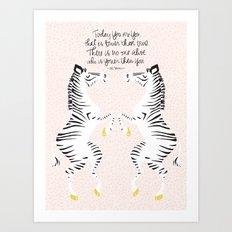 Zebras (Dr. Seuss) Art Print