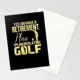 Retirement Retired Golf Grandpa Grandma Stationery Cards