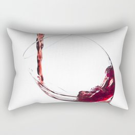 Elegant Red Wine Photo Rectangular Pillow