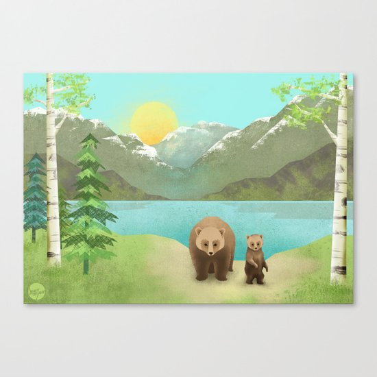 one cub Canvas Print