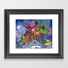 Plastic Fruits and Flowers Framed Art Print