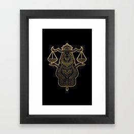 Libra Gold Framed Art Print