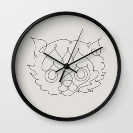 One Line Cat Wall Clock