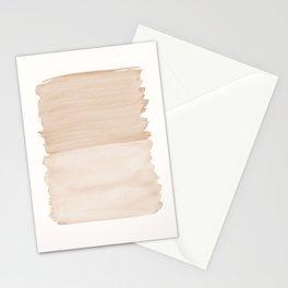 Warm Beige Abstract Minimalism #1 #minimal #ink #decor #art #society6 Stationery Cards