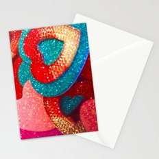 shimmering hearts Stationery Cards