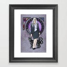Queen of Air and Darkness Framed Art Print