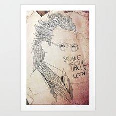 Evil uncle Leon Art Print