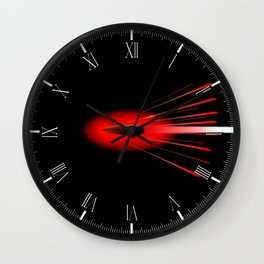 Red Hot Bullet Wall Clock