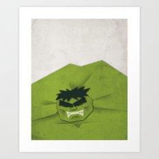 Paper Heroes - Hulk Art Print