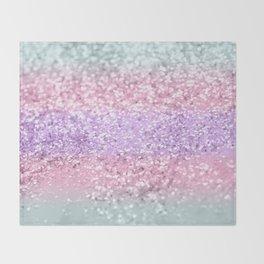 Unicorn Girls Glitter #8 #shiny #pastel #decor #art #society6 Throw Blanket