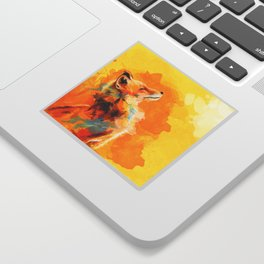 Blissful Light - Fox portrait Sticker