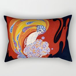 "Art Deco Design ""Oriental Tale"" Rectangular Pillow"