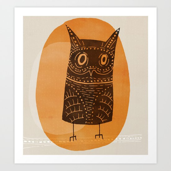 This is my owl Art Print
