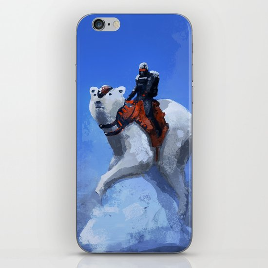 Winter soldier with polar bear iPhone & iPod Skin