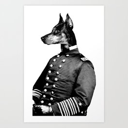 Civil War Doberman Art Print