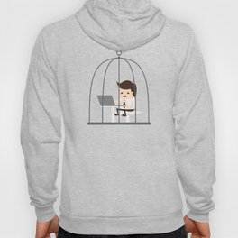 Employee Trapped In The Corporate Cage Hoody