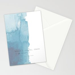 Where I create, there I am true. Quote Rainer Maria Rilke Stationery Cards