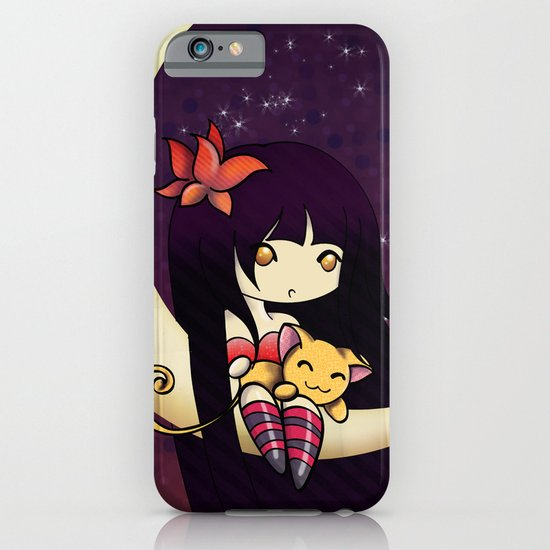 Golden Butterfly Moon iPhone & iPod Case