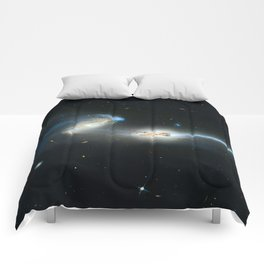 Colliding galaxies, Mice Galaxies, spiral galaxies in constellation Coma Berenices. Comforters