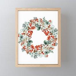 Rust and Blue Framed Mini Art Print