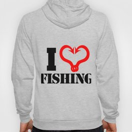 I Heart Fishing - Fish Hooks Hoody