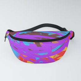 Multi Gold Red Purple Blue Abstract Fanny Pack