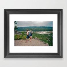 Two Boys Framed Art Print