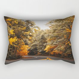 on the road in vermont Rectangular Pillow