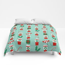 Peppermint Latte mint gender neutral coffee lovers gift for christmas food traditions to remember Comforters