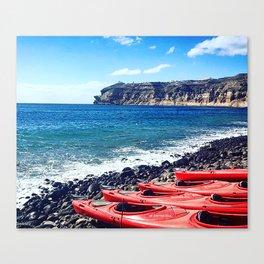 Greek Kayaks Canvas Print