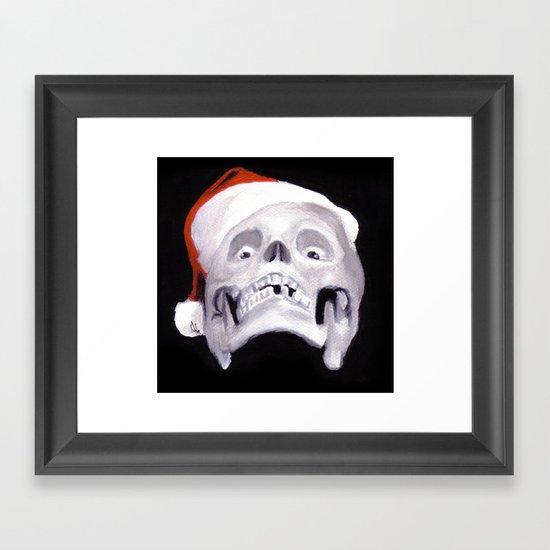 Black XMas. Bastard Son Of Santa Framed Art Print