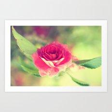 Winged Rose Art Print