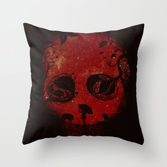Red Encounter Throw Pillow