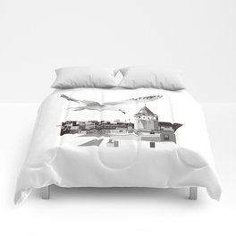 Galata tower & seagull  Comforters