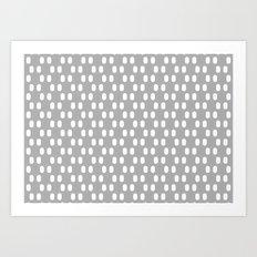 Aelbrecht Grey Pattern Art Print