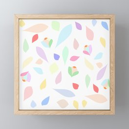 Colorful pastel leaves Framed Mini Art Print