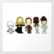 Hitchhikers guide Art Print