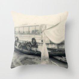 Shoreham House Boat Throw Pillow
